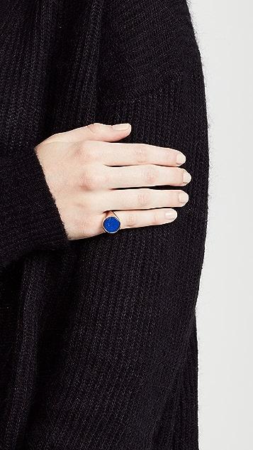 Bronzallure Pinky Signet Stone Ring