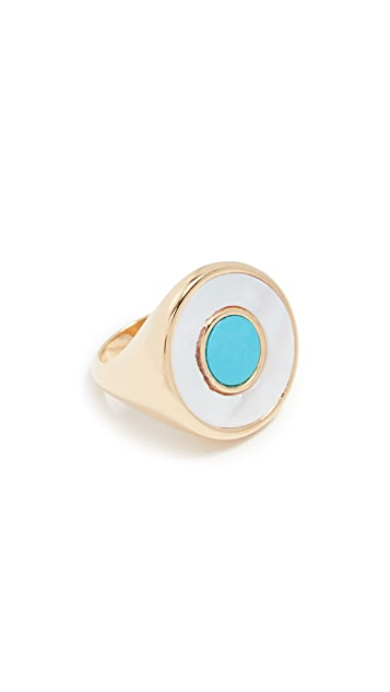 Bronzallure Magnesite & Mother of Pearl Statement Ring