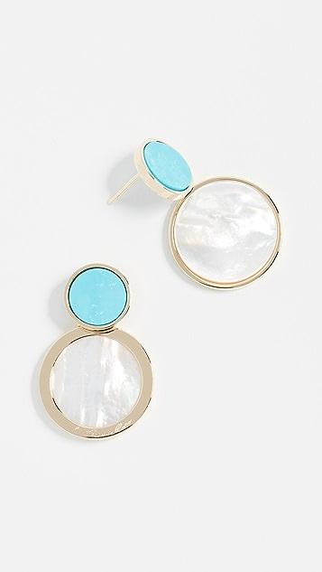 Bronzallure Magnesite & Mother of Pearl Drop Earrings