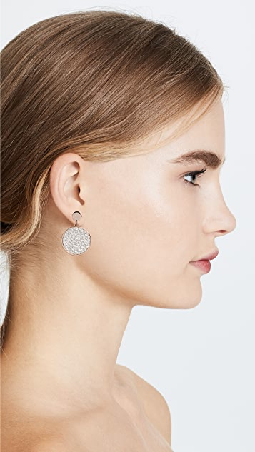 Bronzallure Pave Disk Drop Earrings