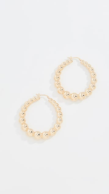 Bronzallure Polished Ball Hoops