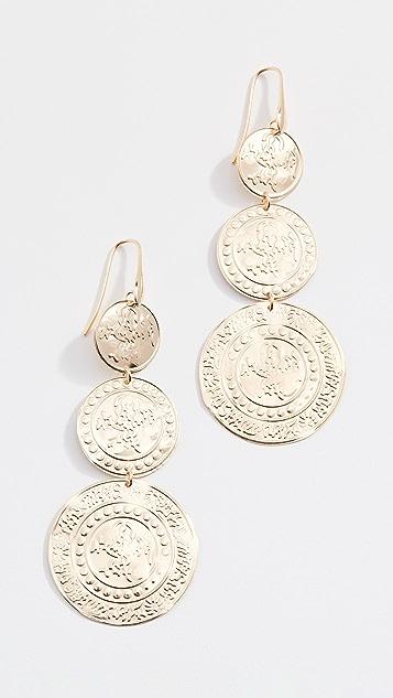 Bronzallure Винтажные серьги-капли с монетами