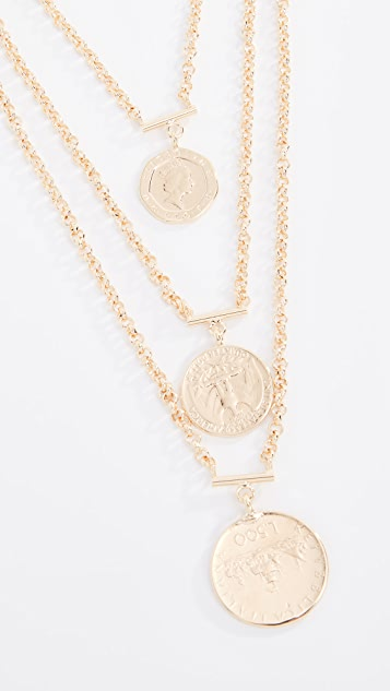 Bronzallure Vintage Coin Statement Necklace