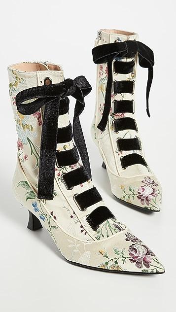 Brock Collection 系带短靴