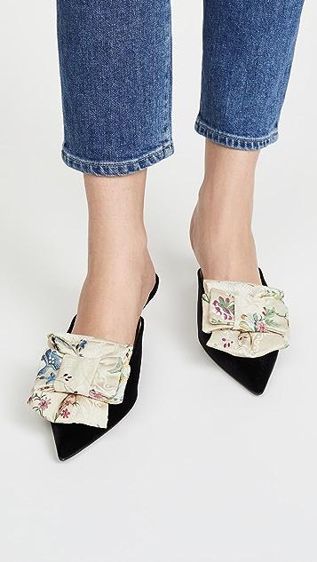 Brock Collection Туфли без задников с бантом