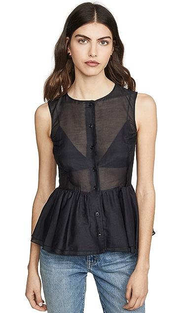 Brock Collection 腰褶女式衬衫