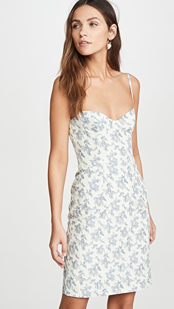 Brock Collection Printed Ottoman Bustier Dress