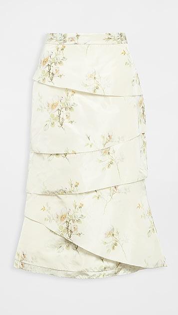 Brock Collection Fantasy Chiné 层褶半身裙