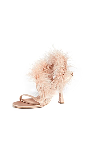Brock Collection Feather Strappy Sandals