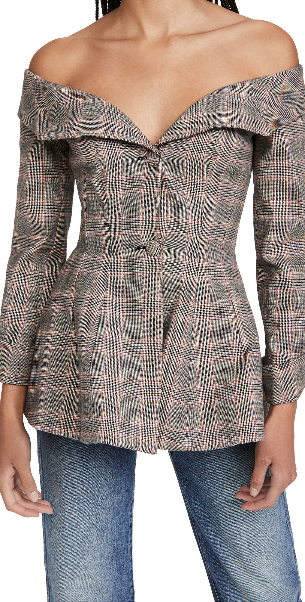 Brock Collection Ladies Woven Plaid Jacket