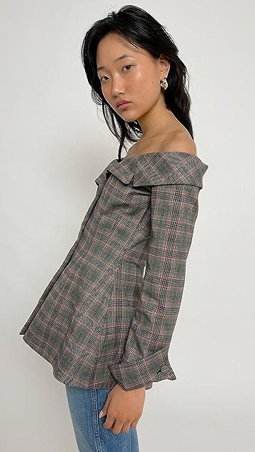 Brock Collection 女士梭织格子夹克