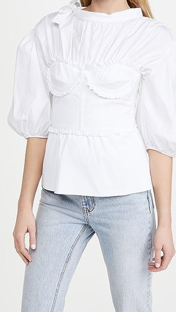 Brock Collection 基本款女式梭织衬衣