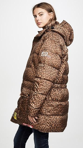 BRUMAL x R13 中长羽绒派克大衣