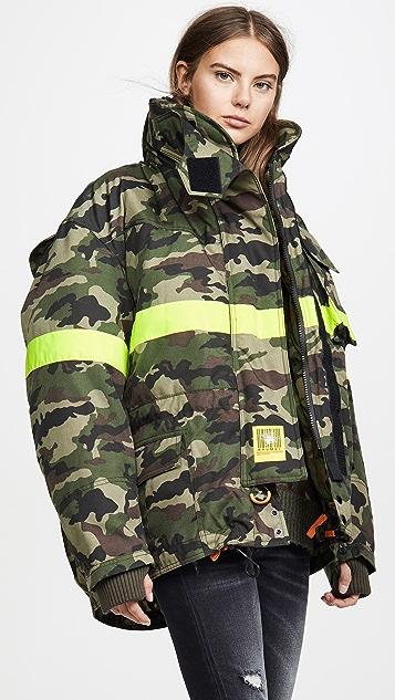 BRUMAL Fireman 反光镶边羽绒夹克