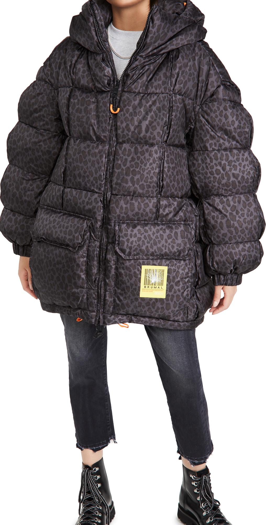 BRUMAL Mid-Length Down Hooded Jacket