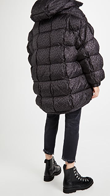 BRUMAL Mid-Length Down Hooded Jacket