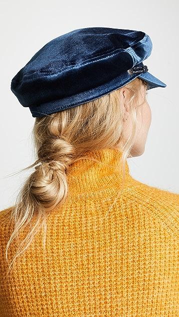 Brixton Ashland Newsboy Velour Hat