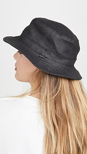 Brixton Hardy Straw Bucket Hat