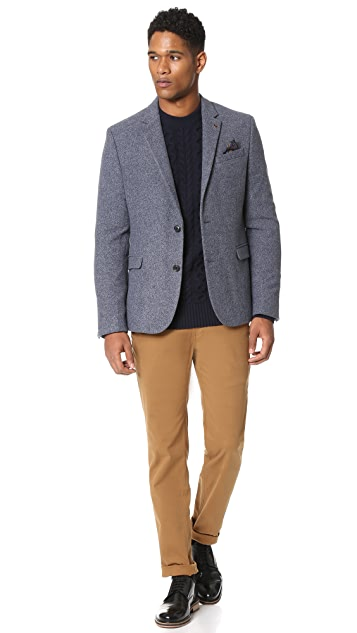 Ben Sherman Wool Donegal Blazer