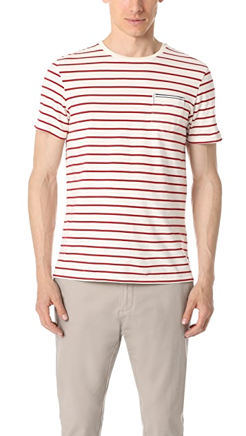 Ben Sherman Short Sleeve Engineer Breton Stripe Tee