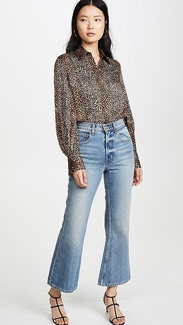 B Sides Укороченные расклешенные джинсы Leni
