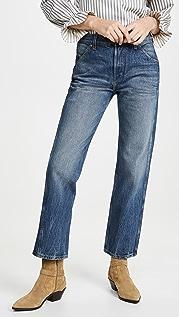 B Sides Georgia 中高腰直筒牛仔裤