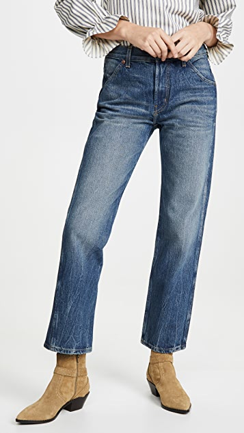 B Sides Georgia Mid High Straight Leg Jeans