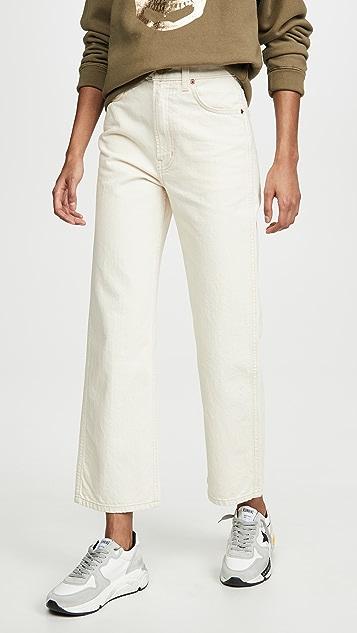 B Sides Прямые джинсы Plein с высокой посадкой