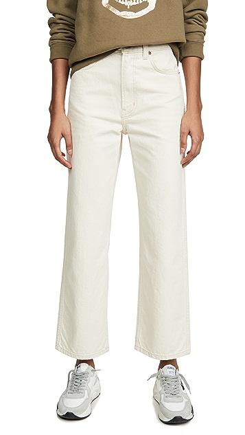 B Sides Plein High Straight Jeans