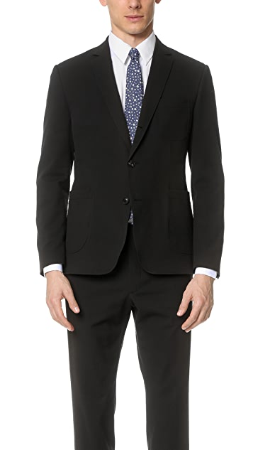 Brooklyn Tailors Tonal Seersucker Unstructured Jacket