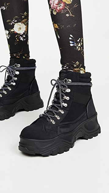 Buffalo London Fendo Lace Up Boots