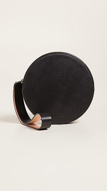 Building Block Puck Circle Wristlet - Black