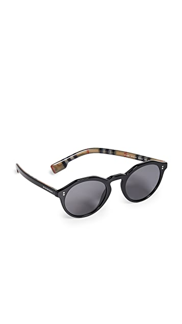 Burberry Round Polarized Sunglasses