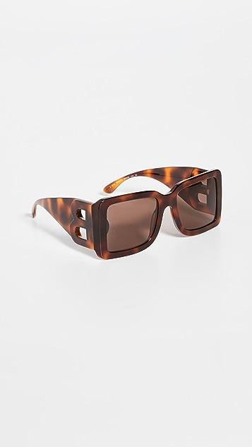 Burberry Oversized Square Logo Sunglasses