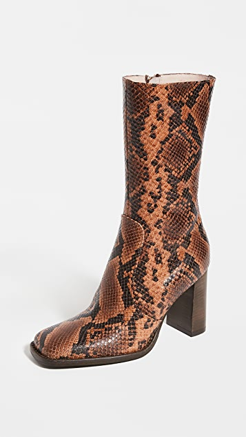 Brother Vellies Lauryn Stamped Snake Boots