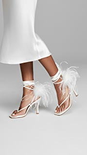 Brother Vellies Paloma Feathered Wrap Sandals