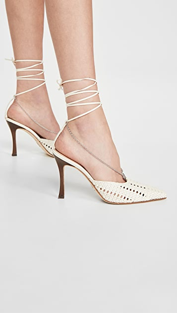 Brother Vellies Olivia Chain Wrap Pumps