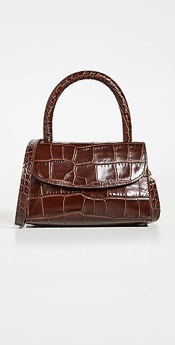 BY FAR - Mini Nutella Croco Top Handle Bag