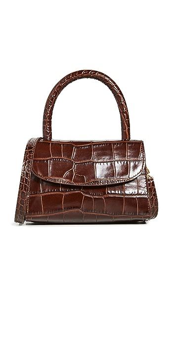 BY FAR Mini Nutella Croco Top Handle Bag - Nutella