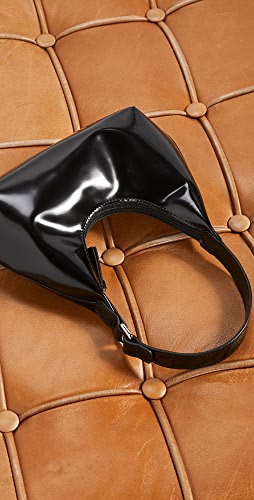 BY FAR - Baby Amber Black Semi Patent Leather Bag