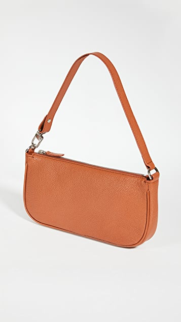 BY FAR Rachel Cognac Grained Leather Bag