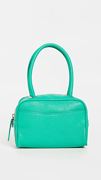 BY FAR Martin Emerald Grained Leather Bag