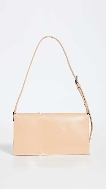 BY FAR Billy Cream Semi Patent Leather Bag
