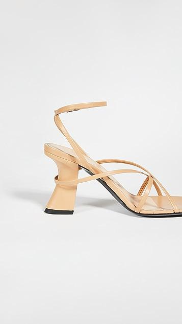 BY FAR Kersti Strappy Sandals
