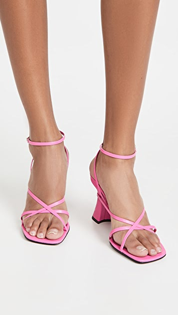 BY FAR Kersti Strappy Sandals