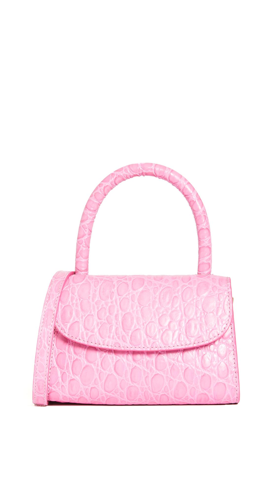 By Far Detachable Strap Mini Tote In Pink
