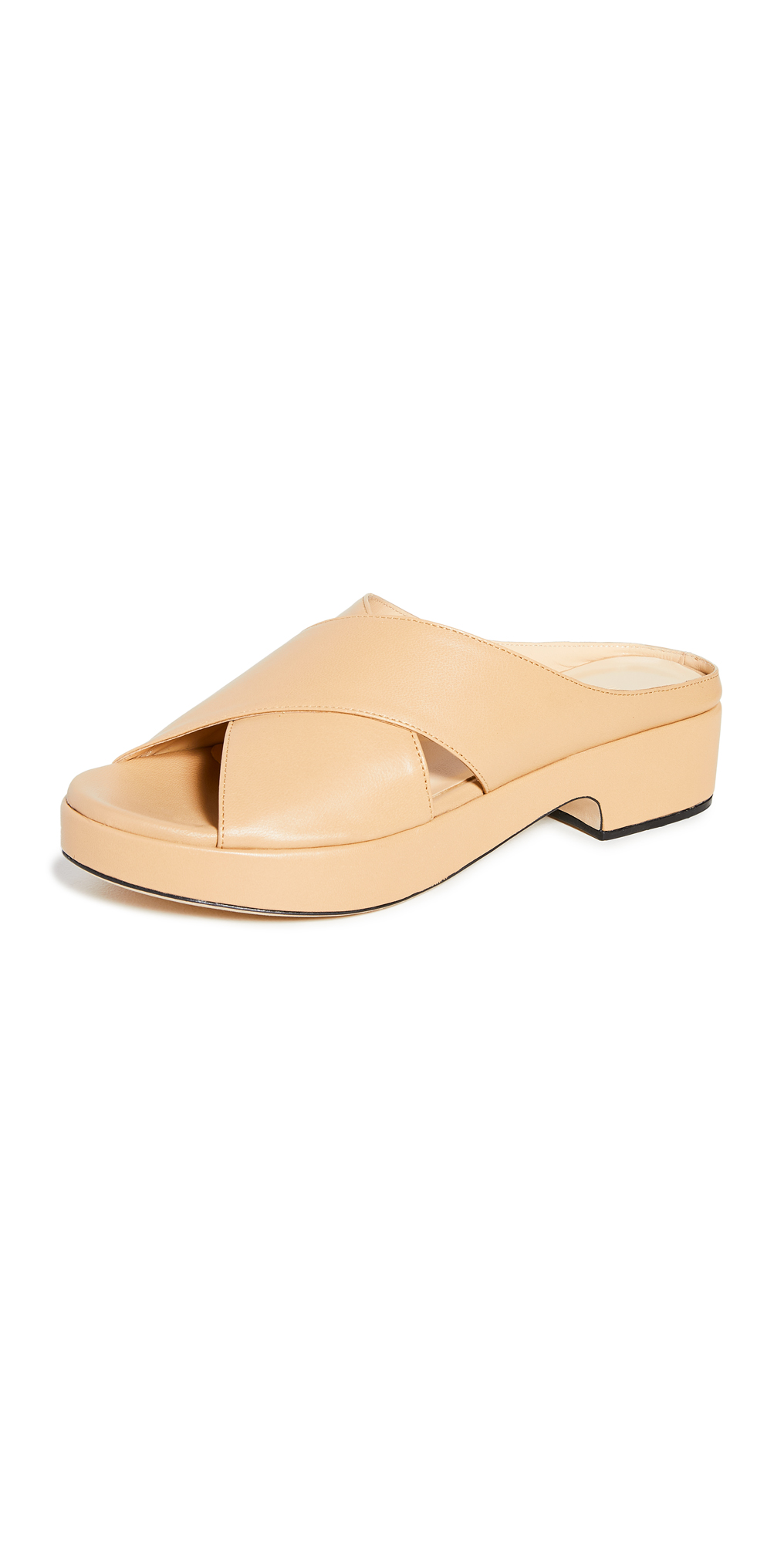 BY FAR Iggy Nude Leather Slides