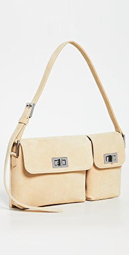 BY FAR - Billy Cappuccino Suede Bag