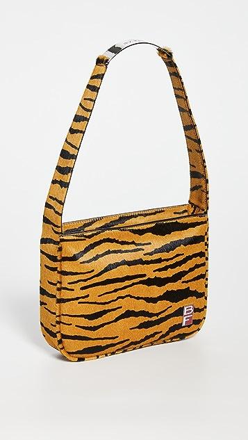 BY FAR Venice Tiger-Print Pony Hair Bag