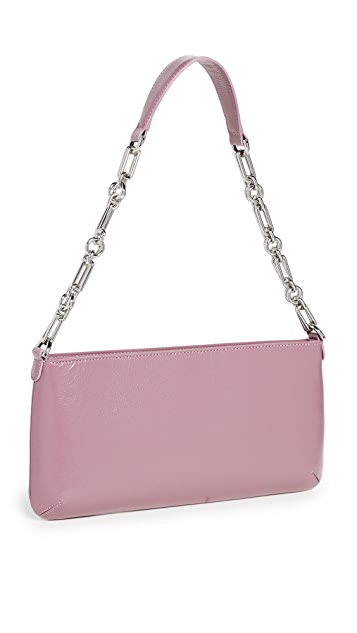 BY FAR Holly Lavender Gloss Grained Leather Bag